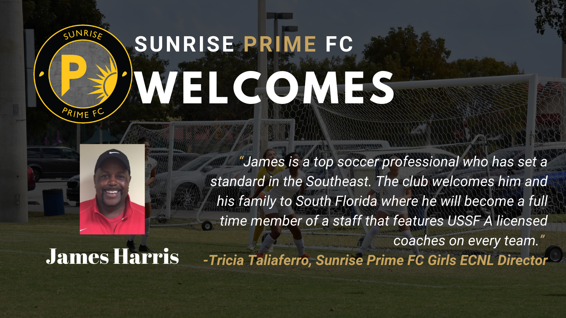 James Harris Joins Sunrise Prime FC